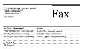 Fax Cover Sheet with Urban Theme