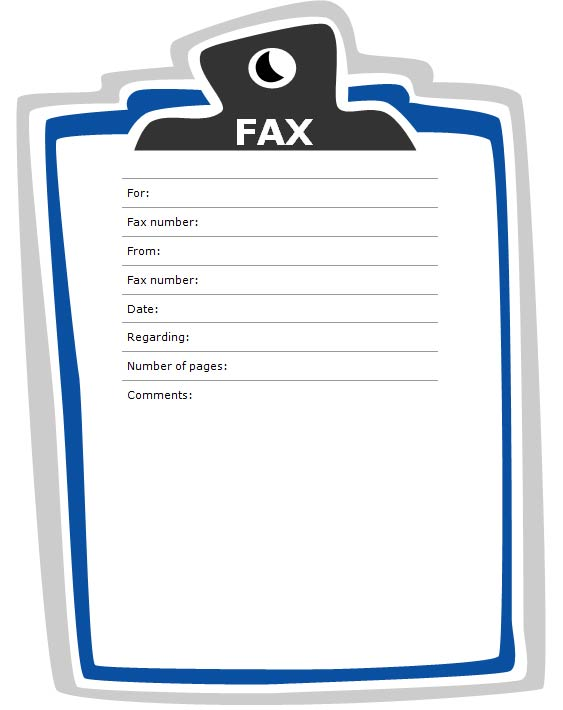 Fax Cover Sheet with Clipboard Design – Fax Cover Sheets Templates