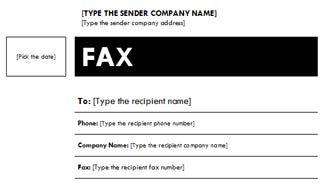 Fax Cover Sheet with Median Theme