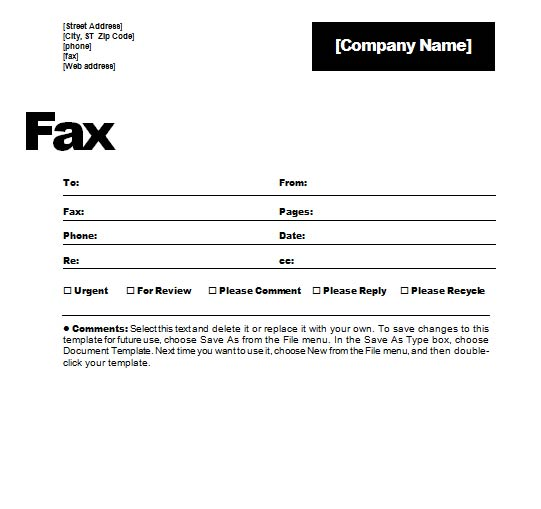 Fax Form Template. Fax Cover Sheet Word Printable Fax Cover Sheet