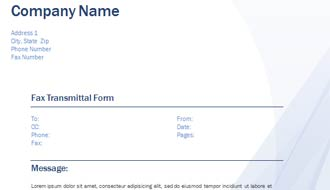 Waves Fax Transmittal Form