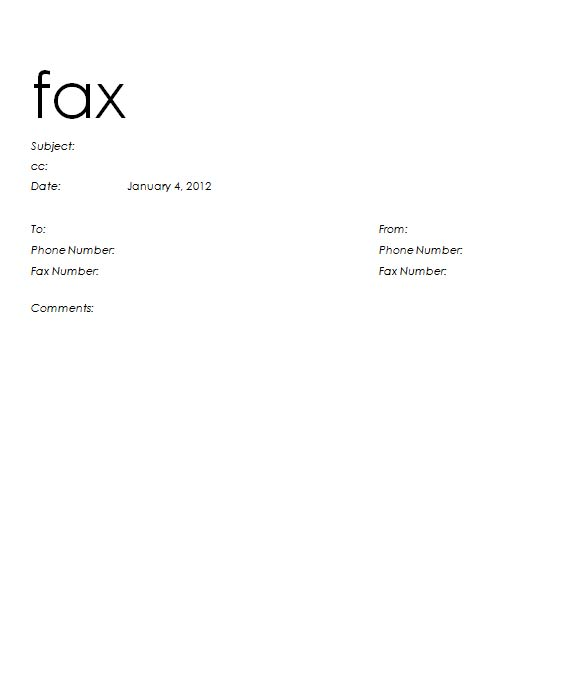Informal Fax Cover Sheet – Sample Fax Cover Sheet