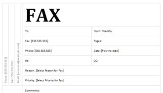 Standard Fax Cover Sheet with Academic Design