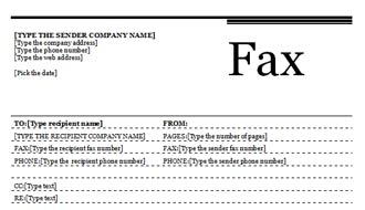 Standard Fax Cover Sheet with Urban Theme